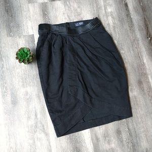 Armani Jeans Black Denim Skirt